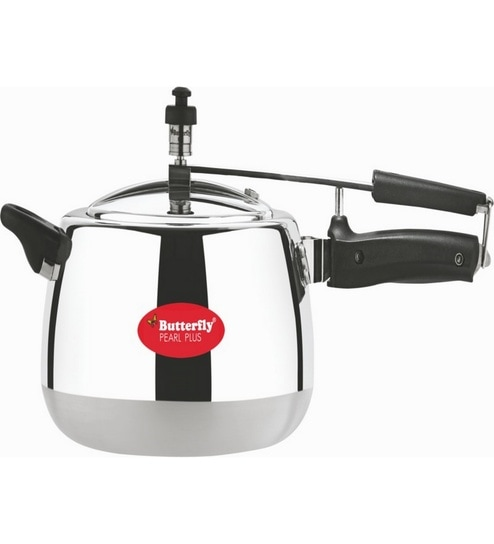 Butterfly Pearl Plus Aluminium 2 Ltr Pressure Cooker With Inner Lid