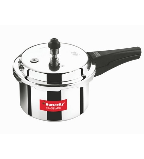 Butterfly Standard Aluminium 10 Ltr Pressure Cooker With Outer Lid