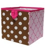 Pink & Chocolate Storage Box Small by Bacati by Bacati