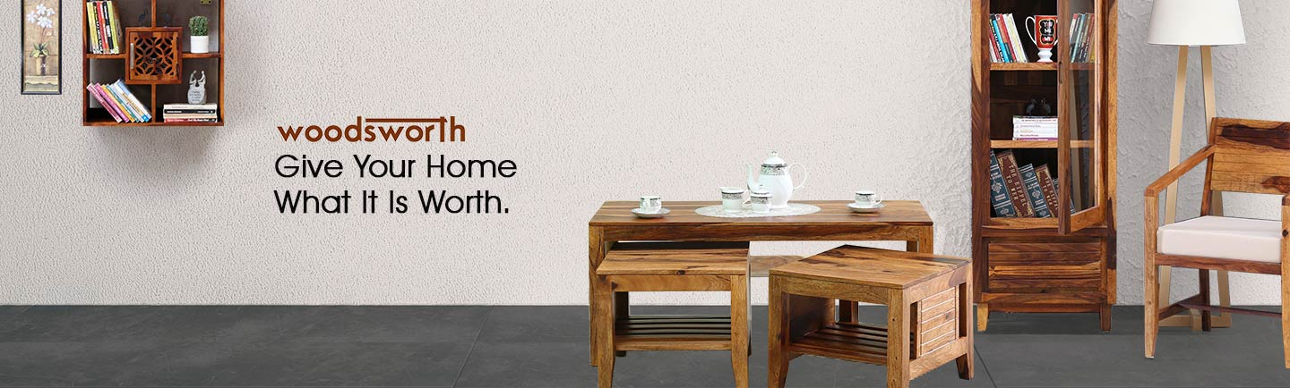 Buy Woodsworth Furniture, Decor Products Online At Best Prices   Pepperfry