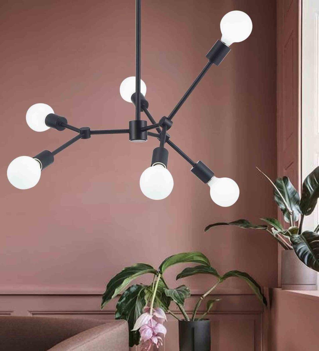 Buy Canopus Black Metal Chandelier By Bohemiana Online Hybrid Chandeliers Ceiling Lights Lamps Lighting Pepperfry Product