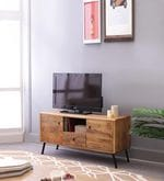 Cagli Entertainment Unit in Natural Finish