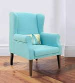 Calisto Wing Chair in Blue Colour