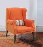 Calisto Wing Chair in Rust Colour