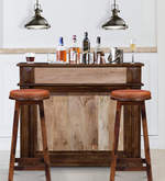 Calliope Bar Cabinet in Dual Tone Finish