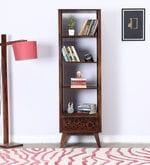 Cheney Solid Wood Book Shelf in Provincial Teak Finish
