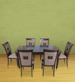Callisto Six Seater Dining Set in Brown Colour