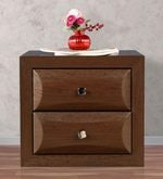Cambry Bedside Table in Walnut Finish