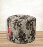 Camouflage Design Large Pouffe in Multicolour