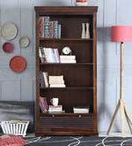 Carleson Solid Wood Book Shelf in Provincial Teak Finish