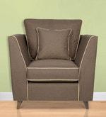 Carmelo One Seater Sofa in Dark Brown Colour