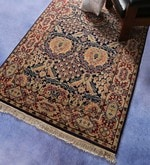 Blue & Red Wool 64 x 48 Inch Bakhtiyari Design Hand Knotted Area Rug