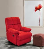 Casa Manual Recliner in Red Colour