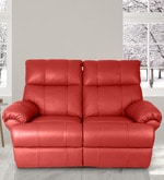 Casa Two Seater Manual Recliner in Red Colour
