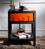 Cassiar Bedside Table in Dual Tone Finish