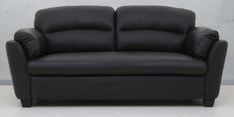 Cairns Three Seater Sofa in Black Colour