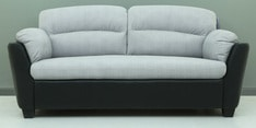 Cairns Three Seater Sofa in Grey & Black Colour