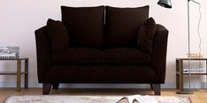 Canberra Charm Two Seater Sofa in Chestnut Brown Colour