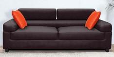 Carelino Three Seater Sofa with Headrest in Dark Brown Colour