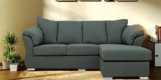 Carina LHS Two Seater Sofa with Lounger in Graphite Grey Colour