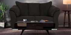 Carina Two Seater Sofa in Mud Brown Colour