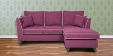 Carmelo LHS Two Seater Sofa with Lounger in Maroon Colour