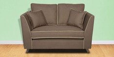 Carmelo Two Seater Sofa in Dark Brown Colour