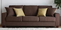 Castilla Three Seater Sofa in Brown Colour