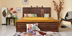 Cayenne Queen Bed with Storage in Columbia Walnut Finish