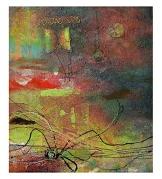 Canvas 32 X 0.2 X 32 Inch Unframed Handpainted Art Painting - 1633538