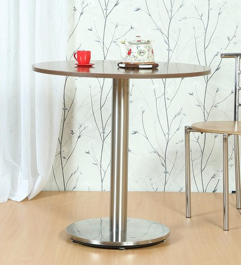 Round Table With Metallic Base By FullStock