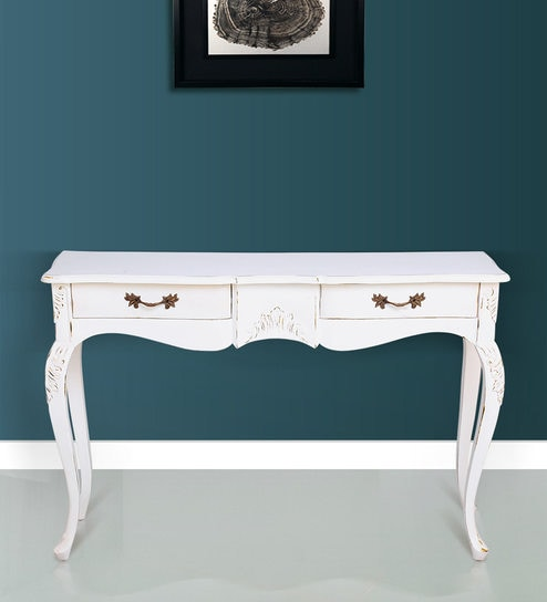 Caleste Console Table In Antique White Colour By Stories