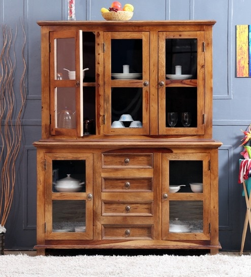 Camelford Hutch Cabinet In Provincial Teak Finish On Rent