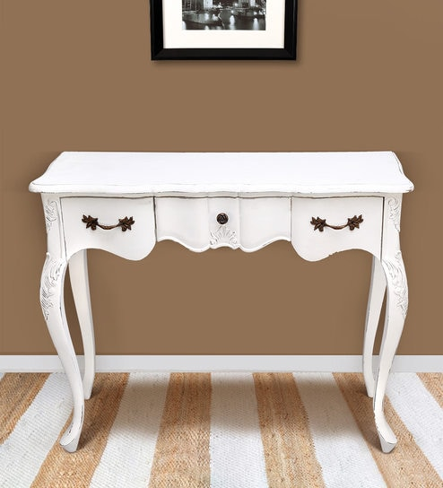 Camille Console Table In Antique White Colour By Stories