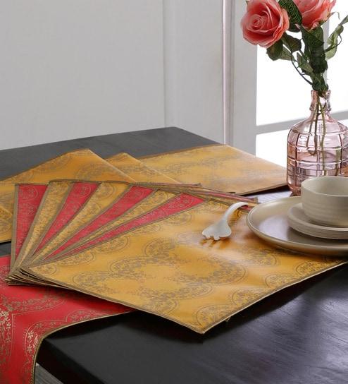 Cannigo Patricia Fibre Table Runner with Placemats - Set of 10 & Buy Cannigo Patricia Fibre Table Runner with Placemats - Set of 10 ...