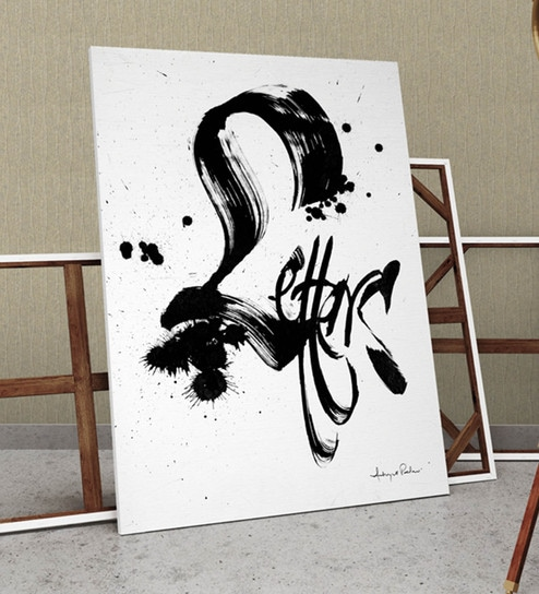 Buy Canvas & Wood 30 x 2 x 42 Inch Letters Framed Digital Art Print ...