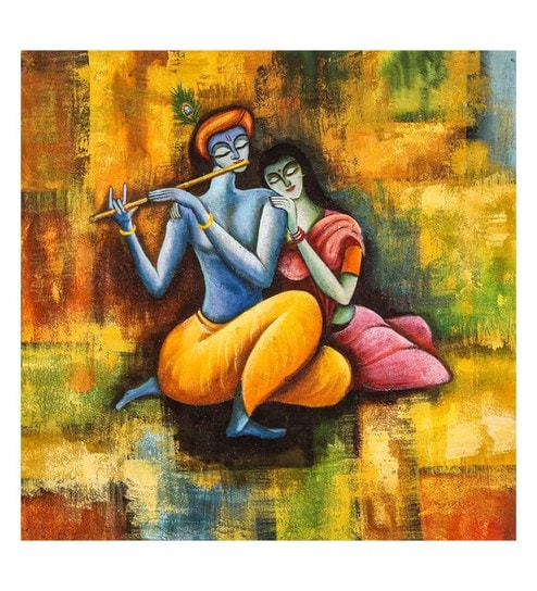 buy canvas 26 x 0 2 x 26 inch radha krishna love forever unframed