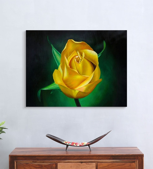 Strange Canvas 32 X 0 2 X 24 Inch Yellow Rose Unframed Handpainted Art Painting By Fizdi Art Store Ibusinesslaw Wood Chair Design Ideas Ibusinesslaworg