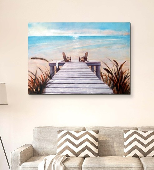 Canvas 36 x 0 2 x 24 Inch Seascape Art Unframed Handpainted Art Painting by  Fizdi Art Store