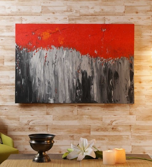 Canvas 36 X 1 X 24 Inch Abstract Painting By Retcomm Art