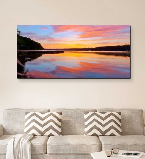 Canvas 48 x 0 2 x 24 Inch Therapeutic Unframed Handpainted Art Painting by  Fizdi Art Store