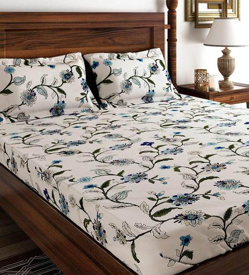 Bedspread Single Bed Size 100/% Cotton Two pillow covers
