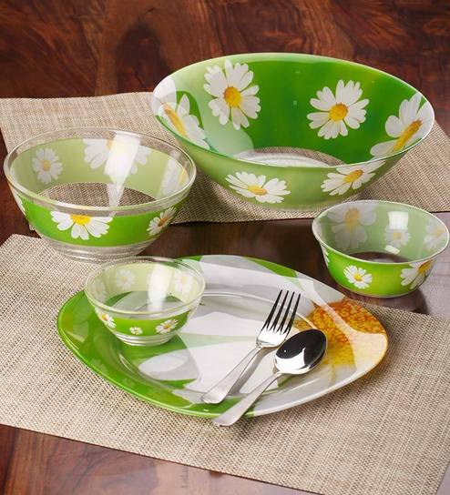 Glass Dinner Set   Set Of 27 With 6 Free Pieces Set. By Luminarc