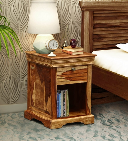 reputable site 1351e 1275d Carleson Solid Wood Night Stand in Rustic Teak Finish by Amberville