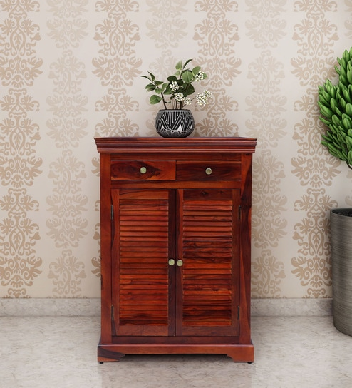 Fabulous Carleson Solid Wood Shoe Cabinet In Honey Oak Finish By Amberville Download Free Architecture Designs Rallybritishbridgeorg
