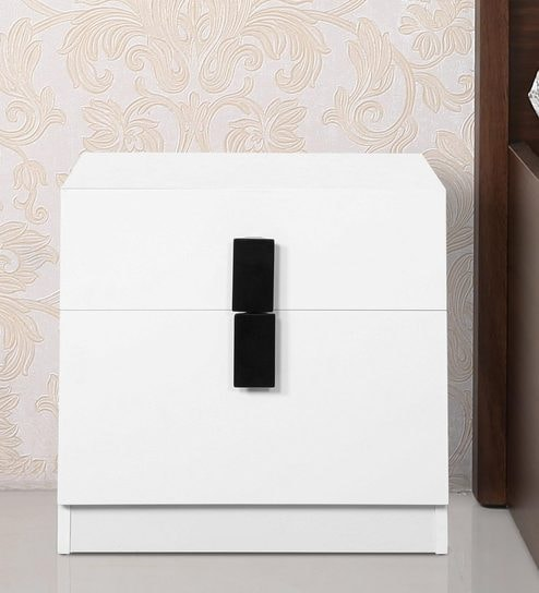 Buy carol high gloss bedside table in white black colour by carol high gloss bedside table in white black colour by hometown watchthetrailerfo