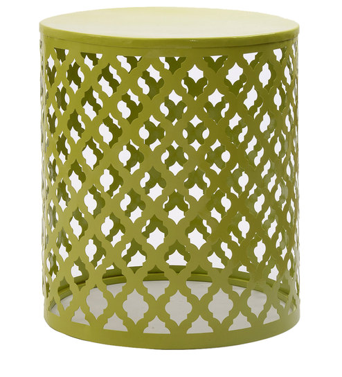 Carved Iron Accent Table In Lime Green Colour By The Yellow Door Online Eclectic End Tables Pepperfry