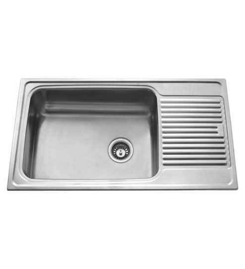 Buy Carysil Vogue Gloss Stainless Steel Single Bowl Kitchen Sink ...