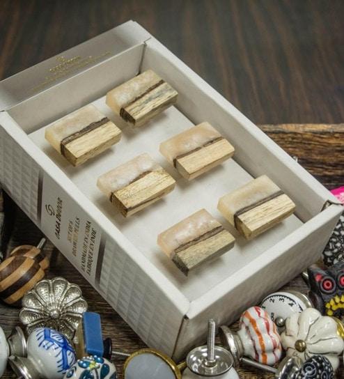 Buy Casa Decor Handmade Wood 2 5 X 1 5 X 1 5 Inch Door Knobs Set
