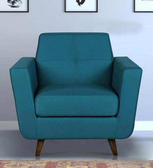 Castello One Seater Sofa In Tampa Teal Colour On